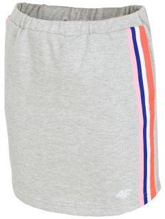 Spódniczka dresowa dla dużych dziewcząt JSPUD203 - szary melanż