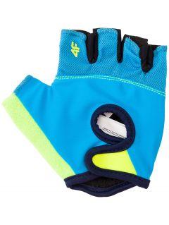 Rękawiczki rowerowe dla dużych chłopców JRRM204 - niebieski