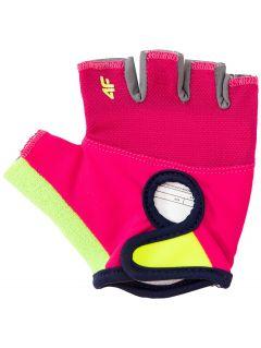 Rękawiczki rowerowe dla dużych dziewcząt JRRD206 - multikolor