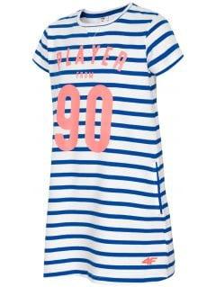 Sukienka dla małych dziewczynek JSUDD105 - kobalt
