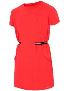 Sukienka dla dużych dziewcząt JSUDD208 - czerwony neon