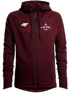 Longsleeve funkcyjny męski Łotwa PyeongChang 2018 TSMLF801 - bordowy