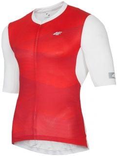 Koszulka rowerowa męska RKM152 - czerwony allover