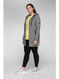 Bluza damska BLD241 - średni szary melanż