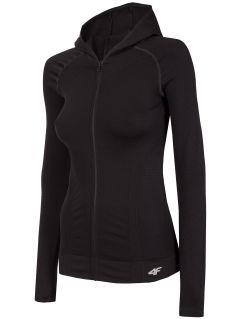 Bluza treningowa damska BLDF301 - głęboka czerń
