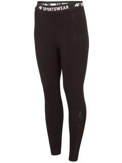 Legginsy damskie LEG300 - głęboka czerń