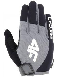 Rękawiczki rowerowe uniseks RRU207 - średni szary
