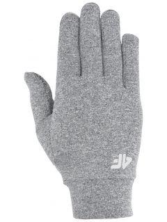 Rękawiczki do biegania uniseks RRU303 - średni szary melanż