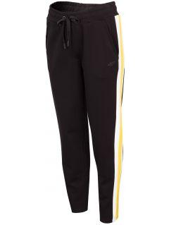 Spodnie dresowe damskie SPDD242 - głęboka czerń
