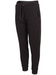 Spodnie dresowe damskie SPDD243 - głęboka czerń