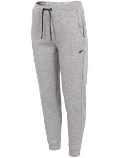 Spodnie dresowe damskie SPDD243 - średni szary melanż
