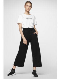 d22623c322758 Spodnie dresowe damskie SPDD290 - głęboka czerń