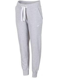 Spodnie dresowe damskie SPDD300 - chłodny jasny szary melanż