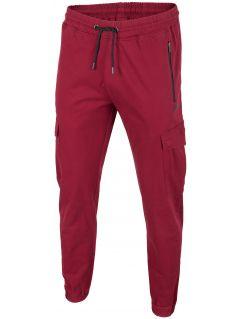 Spodnie miejskie męskie SPMC200 - ciemna czerwień