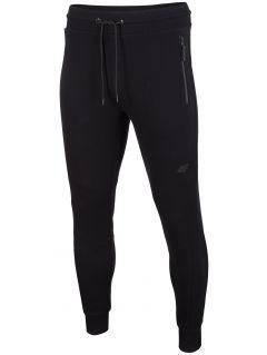 Spodnie dresowe męskie SPMD201 - głęboka czerń