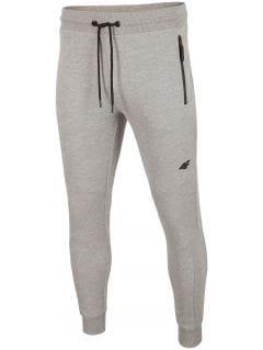 Spodnie dresowe męskie SPMD201 - chłodny jasny szary melanż