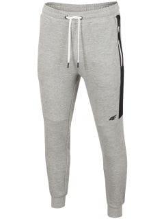Spodnie dresowe męskie SPMD206 - chłodny jasny szary melanż