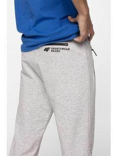 975f45f58f Spodnie dresowe męskie SPMD212 - chłodny jasny szary melanż