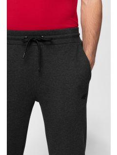 Spodnie dresowe męskie SPMD301 - ciemny szary melanż