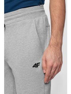Spodnie dresowe męskie SPMD301 - chłodny jasny szary melanż