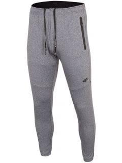 Spodnie treningowe męskie SPMTR271 - średni szary melanż