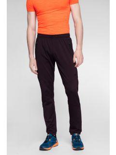 Spodnie treningowe męskie SPMTR271 - burgund