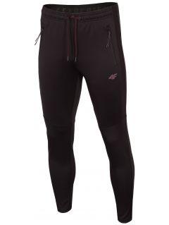 Spodnie treningowe męskie SPMTR272 - głęboka czerń