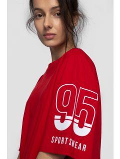 T-shirt damski TSD260 - ciemna czerwień