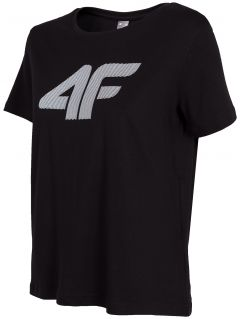 T-shirt damski TSD304 - głęboka czerń