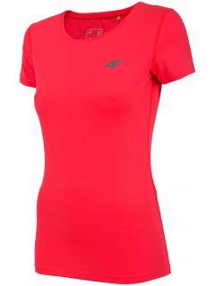 Koszulka treningowa damska TSDF302 - czerwony neon
