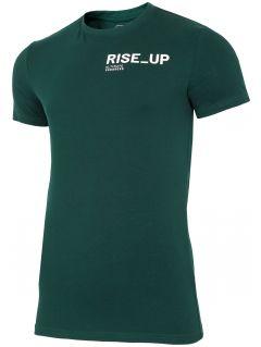 T-shirt męski TSM211 - ciemna zieleń