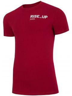 T-shirt męski TSM211 - ciemna czerwień