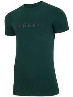 T-shirt męski TSM214 - ciemna zieleń