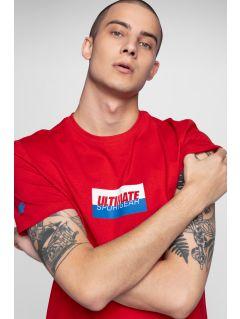 T-shirt męski TSM231 - czerwony