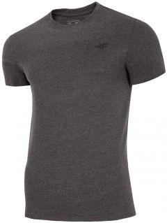T-shirt męski TSM300 - ciemny szary melanż