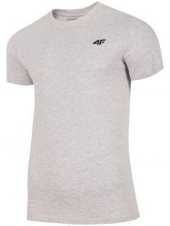 T-shirt męski TSM300 - chłodny jasny szary melanż