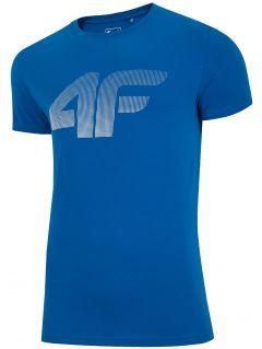T-shirt męski TSM312 - niebieski