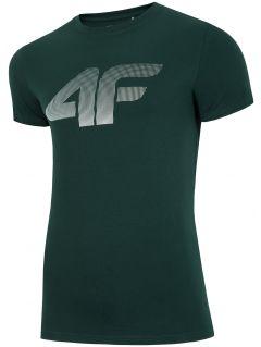 T-shirt męski TSM312 - ciemna zieleń
