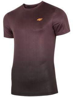 Koszulka treningowa męska TSMF272 - burgund allover
