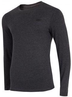 T-shirt męski TSML300 - ciemny szary melanż
