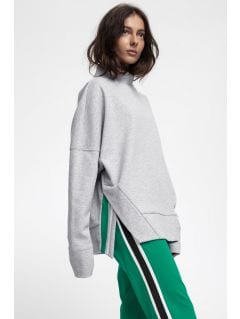 Bluza damska BLD220 - chłodny jasny szary melanż