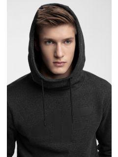 Bluza męska BLM301 - ciemny szary melanż