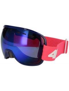 Gogle narciarskie damskie GGD252 - różowy neon
