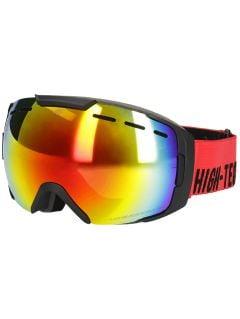 Gogle narciarskie męskie GGM255 - czerwony neon