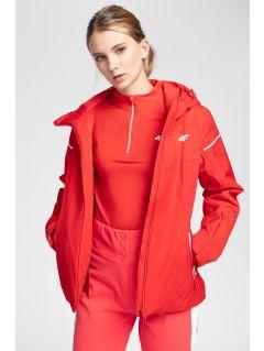 Kurtka narciarska damska KUDN300 - czerwony