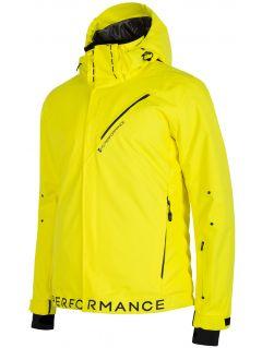 Kurtka narciarska męska KUMN154 - żółty