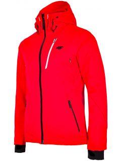 Kurtka narciarska męska KUMN257 - czerwony neon