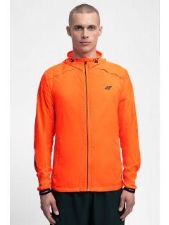 Kurtka do biegania męska KUMTR202 - pomarańcz neon