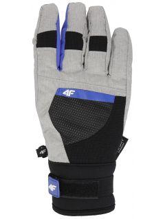 Rękawice narciarskie damskie RED251 - szary melanż