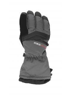 Rękawice narciarskie męskie REM150 - ciemny szary